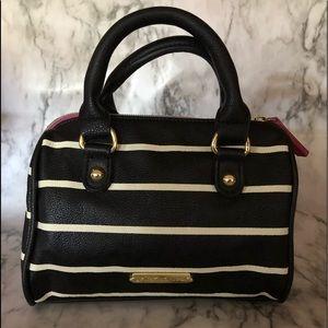 Betsey Johnson black and white striped handbag
